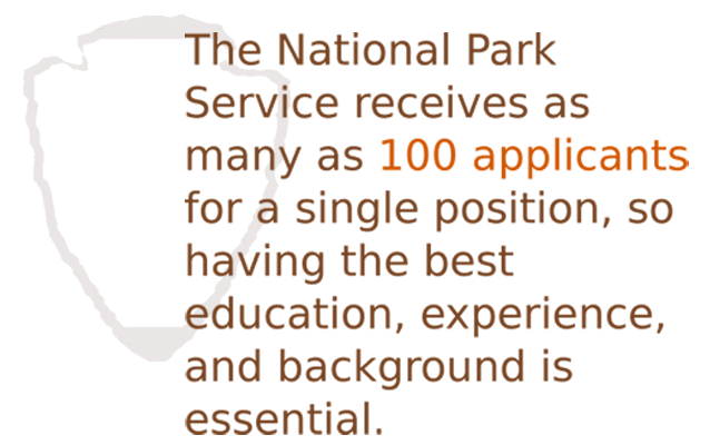 Gain experience to beat out fierce competition for park ranger jobs